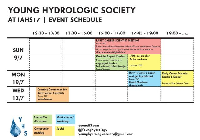 yhs events at iahs17 young hydrologic society