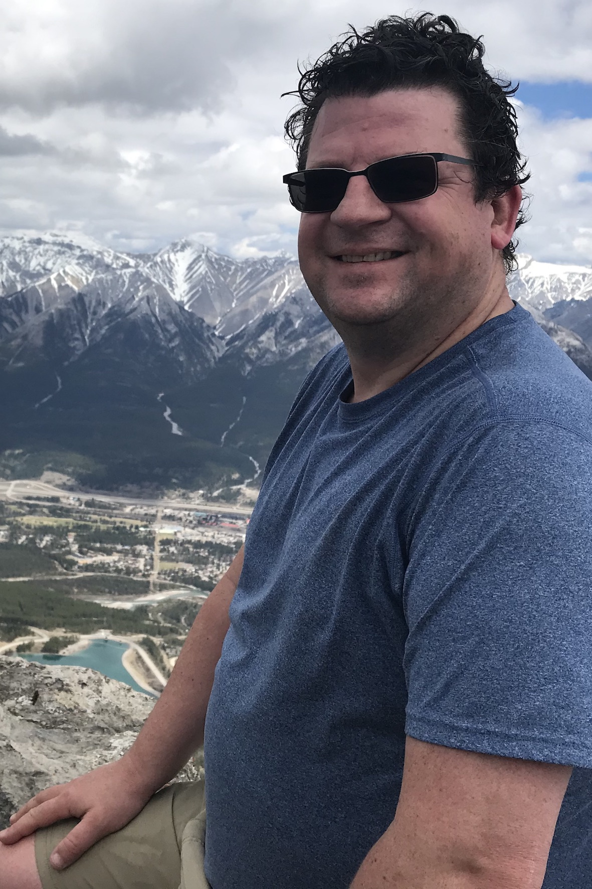 Martyn on the summit of Ha Ling Peak, Alberta, Canada