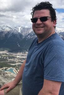 Martyn on the summit of Ha Ling Peak, Alberta, Canada